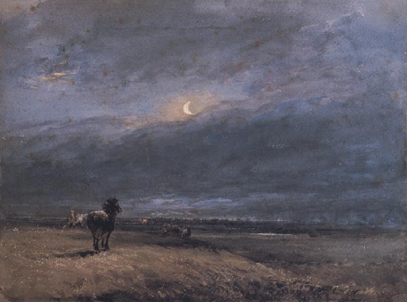 David Cox The Night Train oil painting image